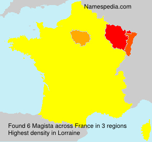 Surname Magista in France