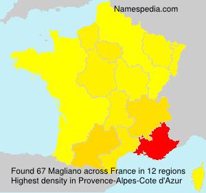 Familiennamen Magliano - France