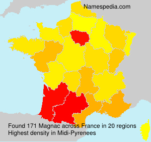 Surname Magnac in France
