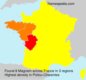 Surname Magnam in France