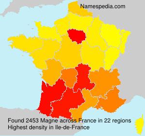 Surname Magne in France