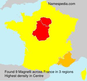 Surname Magnelli in France