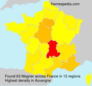 Surname Magner in France