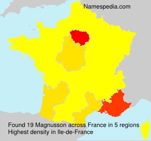Surname Magnusson in France