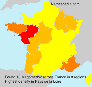 Surname Magomedov in France