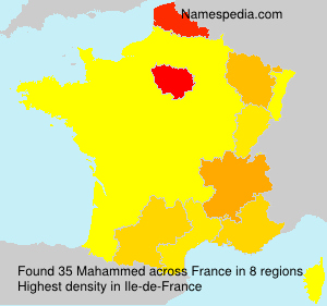 Surname Mahammed in France