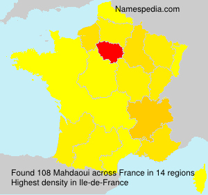 Surname Mahdaoui in France