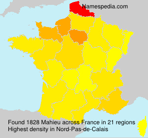 Surname Mahieu in France