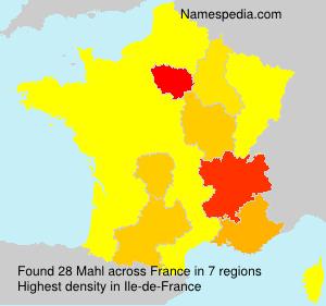 Surname Mahl in France