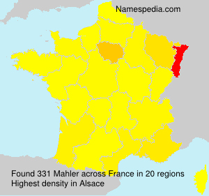 Surname Mahler in France