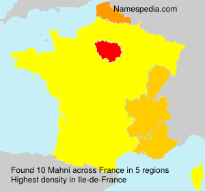 Surname Mahni in France