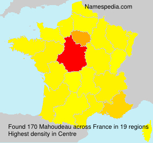 Surname Mahoudeau in France