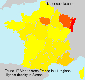 Surname Mahr in France