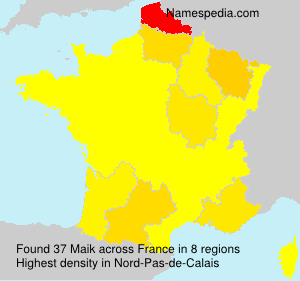 Surname Maik in France