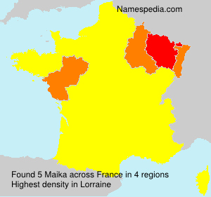 Surname Maika in France