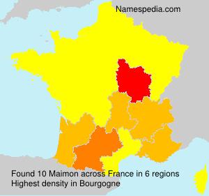 Familiennamen Maimon - France