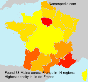 Surname Maina in France