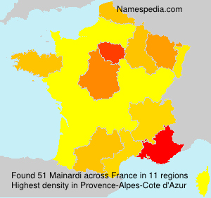 Surname Mainardi in France