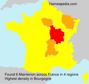 Surname Maintenon in France