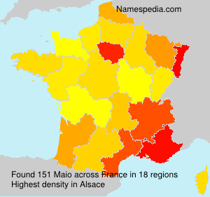 Surname Maio in France