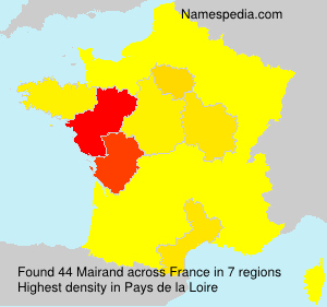Surname Mairand in France