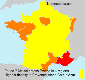Surname Maisel in France