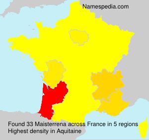 Surname Maisterrena in France