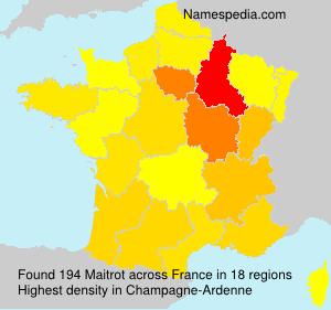 Surname Maitrot in France