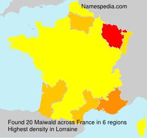 Familiennamen Maiwald - France