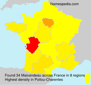 Surname Maixandeau in France