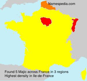 Surname Majic in France