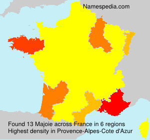 Surname Majoie in France