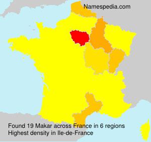 Surname Makar in France
