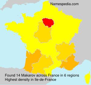 Surname Makarov in France