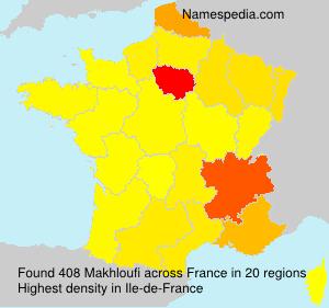 Surname Makhloufi in France