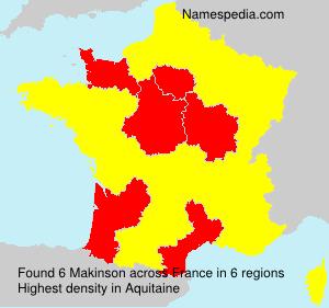 Surname Makinson in France