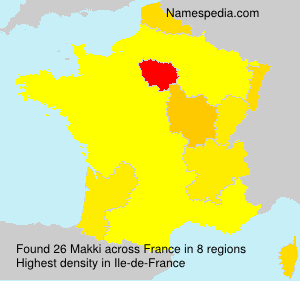 Surname Makki in France
