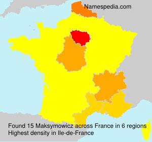 Familiennamen Maksymowicz - France