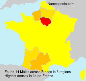 Surname Malac in France