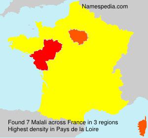 Familiennamen Malali - France