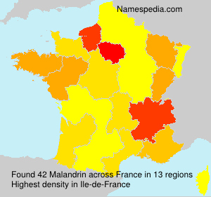 Surname Malandrin in France