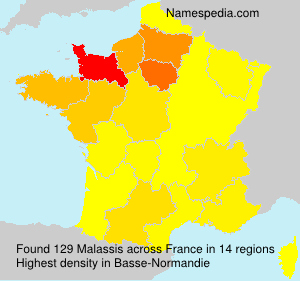 Surname Malassis in France