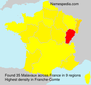 Surname Malavaux in France