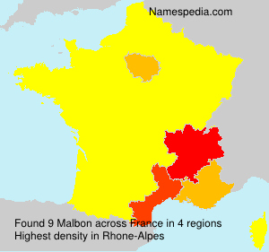 Surname Malbon in France