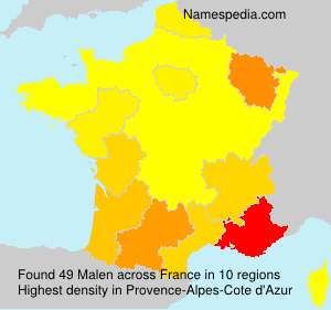 Surname Malen in France