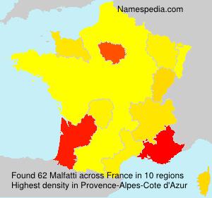 Surname Malfatti in France