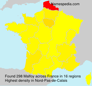 Surname Malfoy in France