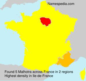 Familiennamen Malhotra - France