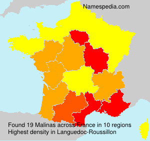 Surname Malinas in France