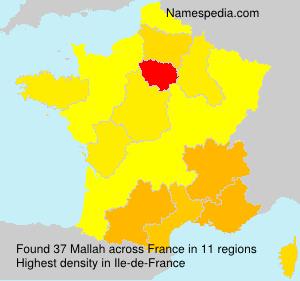 Surname Mallah in France